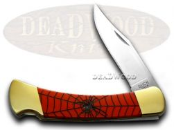 Buck 110 Folding Hunter Knife Black Widow Red Pearl Corelon 1/400 Stainless