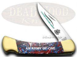 Buck 110 US Army Folding Hunter Knife Star Spangled Banner Corelon 1/400 420HC