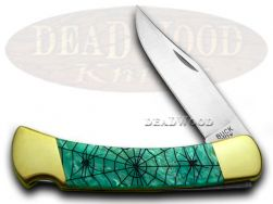 Buck 110 Folding Hunter Knife Recluse Turquoise Mist Corelon 1/400 Stainless