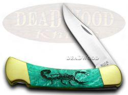 Buck 110 Folding Hunter Knife Scorpion Turquoise Mist Corelon 1/400 Stainless