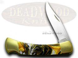 Buck 110 Folding Hunter Knife White Buffalo Corelon 420HC Stainless Pocket