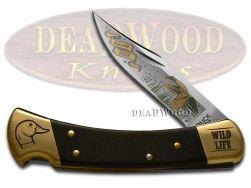 Buck 110 Wild Life Series Duck Folding Hunter Stainless Custom Pocket Knife