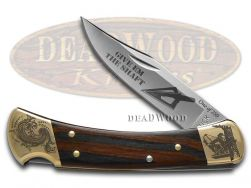 Buck 110 Folding Hunter Knife Give 'Em The Shaft Ebony Wood 1/250 Stainless