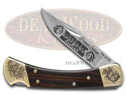 Buck 110 Premier Edition Ebony Wood Folding Hunter 1/250 Stainless Pocket Knife