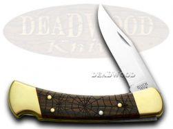 Buck 110 Folding Hunter Knife Recluse Ebony Wood 1/400 420HC Stainless Pokcet