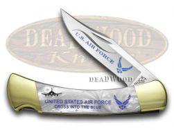 Buck 110 U.S. Air Force Folding Hunter Knife White Pearl Corelon 1/400 420HC