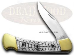 Buck 110 Folding Hunter Knife Recluse White Pearl Corelon 1/400 420HC Stainless
