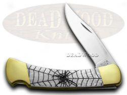 Buck 110 Folding Hunter Knife Black Widow White Pearl Corelon 1/400 Stainless