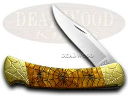 Buck 110 Folding Hunter Knife Engraved Recluse Antique Gold Corelon 1/200 420HC
