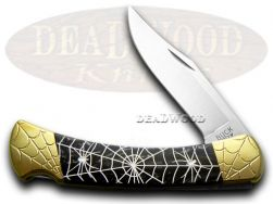 Buck 110 Folding Hunter Knife Engraved Recluse Black Pearl Corelon 1/200 420HC