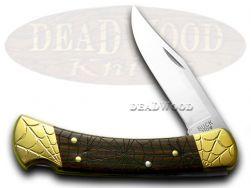 Buck 110 Folding Hunter Knife Engraved Recluse Ebony Wood 1/200 Stainless