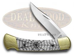 Buck 110 Folding Hunter Knife Engraved Recluse White Pearl Corelon 1/200 420HC