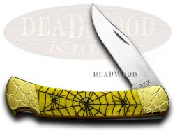 Buck 110 Folding Hunter Knife Engraved Recluse Yellow Corelon 1/200 Stainless