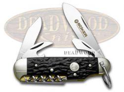 Boker Tree Brand Black Delrin Camp Pocket Knife 110182R Knives