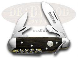 Boker Tree Brand Smoked Oak Wood Camp Pocket Knife 110183 Knives