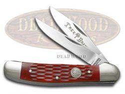 Boker Tree Brand Copperhead Knife Jigged Red Bone Stainless Pocket Knives 110746
