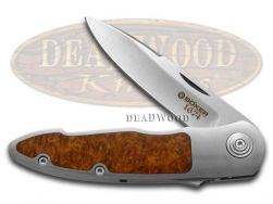 Boker Tree Brand 1674 Merlin Slide Lock Knife Steel & Amboina Wood 1/343 111621