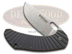 Boker Tree Brand Anso Aurora Framelock Knife Titanium 154CM Stainless 112629