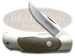 Boker Tree Brand Optima Lockback Knife Green Canvas Micarta Stainless 113005