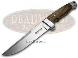 Boker Tree Brand Vollintegral Fixed Blade Knife Walnut Wood Stainless 120638