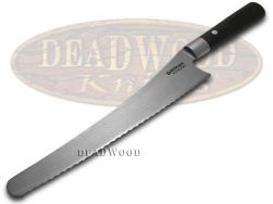 Boker Tree Brand Damascus Kitchen Cutlery Bread Knife Black Olive Wood 130423DAM