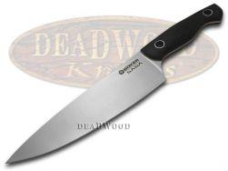 Boker Tree Brand Saga Kitchen Cutlery Black G10 Full Tang Chef's 131467 Knife