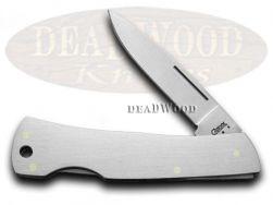 Case xx Medium Executive Lockback Knife Brushed Stainless Steel Pocket Knives 04