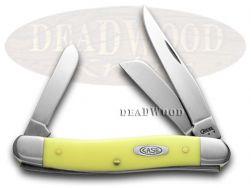 Case xx Medium Stockman Knife Yellow Delrin Handle CV Steel Pocket Knives 00035