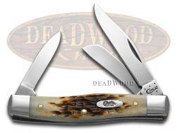 Case xx Medium Stockman Knife Jigged Amber Bone Handle CV Pocket Knives 00079