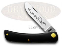 Case xx Sodbuster Jr. Knife Black Synthetic Handle Stainless Pocket Knives 00095