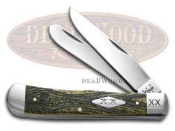 Case xx Trapper Knife Wood Grain Olive Green Bone 1/500 Stainless Pocket Knives