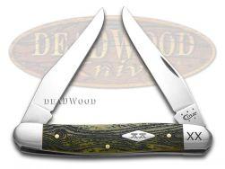 Case xx Muskrat Knife Wood Grain Olive Green Bone 1/500 Stainless Pocket Knives