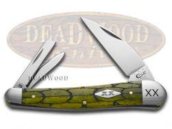 Case xx Seahorse Whittler Knife Tortoise Shell Olive Green Bone 1/500 Stainless