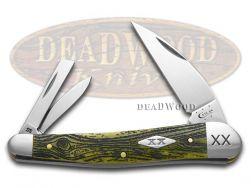 Case xx Seahorse Whittler Knife Wood Grain Olive Green Bone 1/500 Stainless