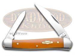 Case xx Smooth Persimmon Orange Bone Mini Copperhead Stainless 10315 Knife