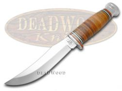 Case xx Fixed Blade Skinner Hunter Knife Mushroom Cap Brown Leather 10342