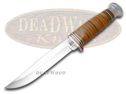 Case xx Fixed Blade Clip Point Hunter Knife Mushroom Cap Brown Leather 10343