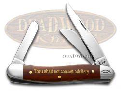 Case xx Medium Stockman Knife 7th Commandment Chestnut Bone 1/500 Pocket 10354