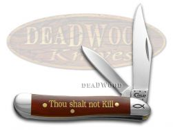 Case xx Peanut Knife 6th Commandment Chestnut Bone 1/500 Stainless Pocket 10355