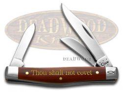 Case xx Medium Stockman Knife 10th Commandment Chestnut Bone 1/500 Pocket 10358