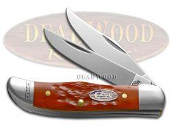 Case xx Pocket Hunter Knife Jigged Dark Red Bone Stars & Stripes Stainless 10450