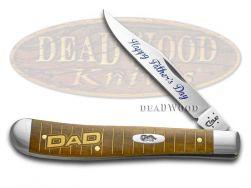 Case xx 2016 Father's Day Antique Bone Slimline Trapper Dad 1/650 10561 Knife