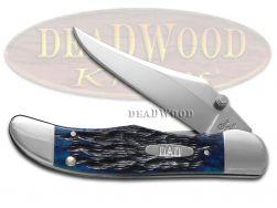 Case xx Kickstart Mid Folding Hunter Knife 2019 DAD Jigged Ocean Blue Bone 10584