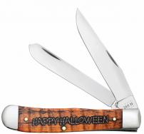 Case xx 2021 Happy Halloween Trapper Orange Bone 10599 Stainless Pocket Knife