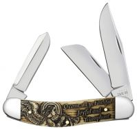 Case xx Sowbelly Knife O Come All Ye Faithful Natural Bone 10606 Pocket Knives