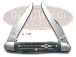 Case xx Muskrat Knife Second Cut Jigged Gray Bone Stainless Pocket Knives 10667