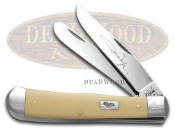 Case xx John Wayne Cream Delrin Trapper Stainless Pocket Knife 10688 Knives