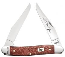 Case xx John Wayne Muskrat Knife Red Sycamore Wood The Duke Stainless 10695