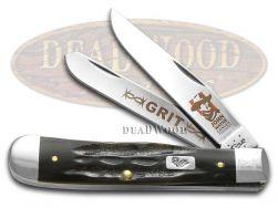 Case xx John Wayne Cancer Foundation Trapper Knife Buffalo Horn Stainless 10696