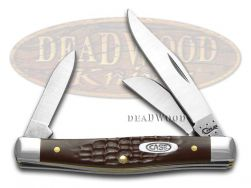Case xx Medium Stockman Knife Jigged Brown Delrin Stainless Pocket Knives 00106